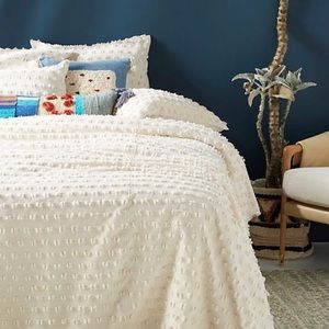 Anthropologie Mareika Ivory Duvet Cover